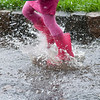 Splashing : Something good about all the rain. Puddles!